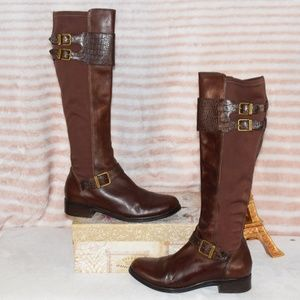 COLE HAAN NIKE AIR Knee High Equestrian Boots Sz 7